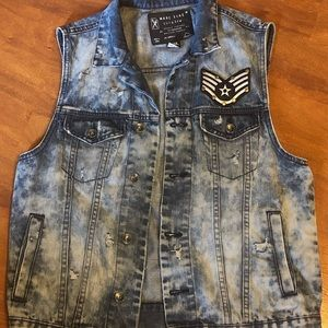 Jackets & Blazers - Hand distressed vest